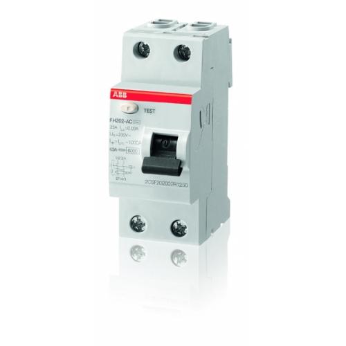 Выключатель дифференциальный (УЗО) ABB FH202AC-25/0.03 25А 30мА | 2CSF202004R1250