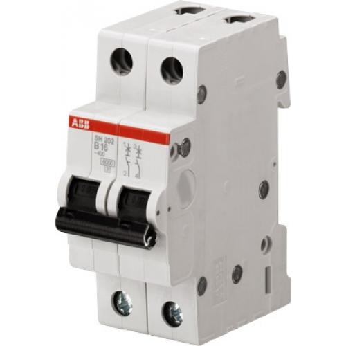 Выключатель автоматический двухполюсный ABB SH202L 40А C 4,5кА (SH202L C40) | 2CDS242001R0404