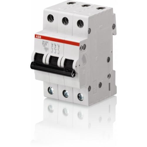 Выключатель автоматический трехполюсный ABB SH203L 25А C 4,5кА (SH203L C25) | 2CDS243001R0254