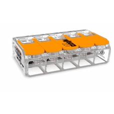 Клемма 5-проводная соединительная 6,0мм2 COMPACT для всех типов проводников; с рабочими рычагами; m.t.- 85 °C | 221-615 | WAGO