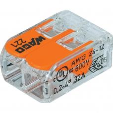 Клемма универсальная 2-проводная 0.2 - 4 мм.кв. (уп/100шт) | 221-412 | WAGO