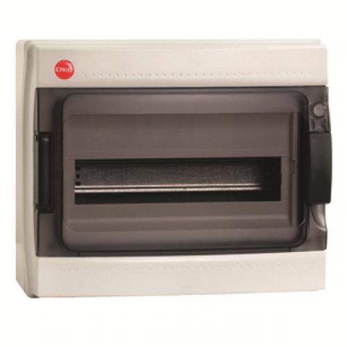 Бокс настенный DKC с дверцей 12 модуля IP65 серый | 85612